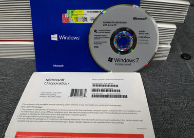 China Windows 7 Professional Original Product Key 64 bit SP1 English Intel 1pk DSP DVD Packing factory