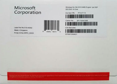 China Download Link Microsoft Server 2016 Enterprise 64bit 1 Pack DSP 16 Core Online factory