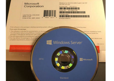 China Multi Languages Microsoft Windows Server 2016 Standard OEM Package DVD with Lisence Key factory
