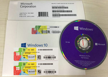 China Activate COA License Sticker / Microsoft Windows 10 Pro Retail Box One Key for I PC factory