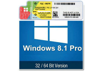 China 100% Original Windows 8.1 Product Key Code 32 64 Bit 20GB Hard Disk Space factory