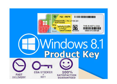 China 1 Year Lifetime Windows 8.1 Pro Key Sticker Global Version All Launguages Activation factory